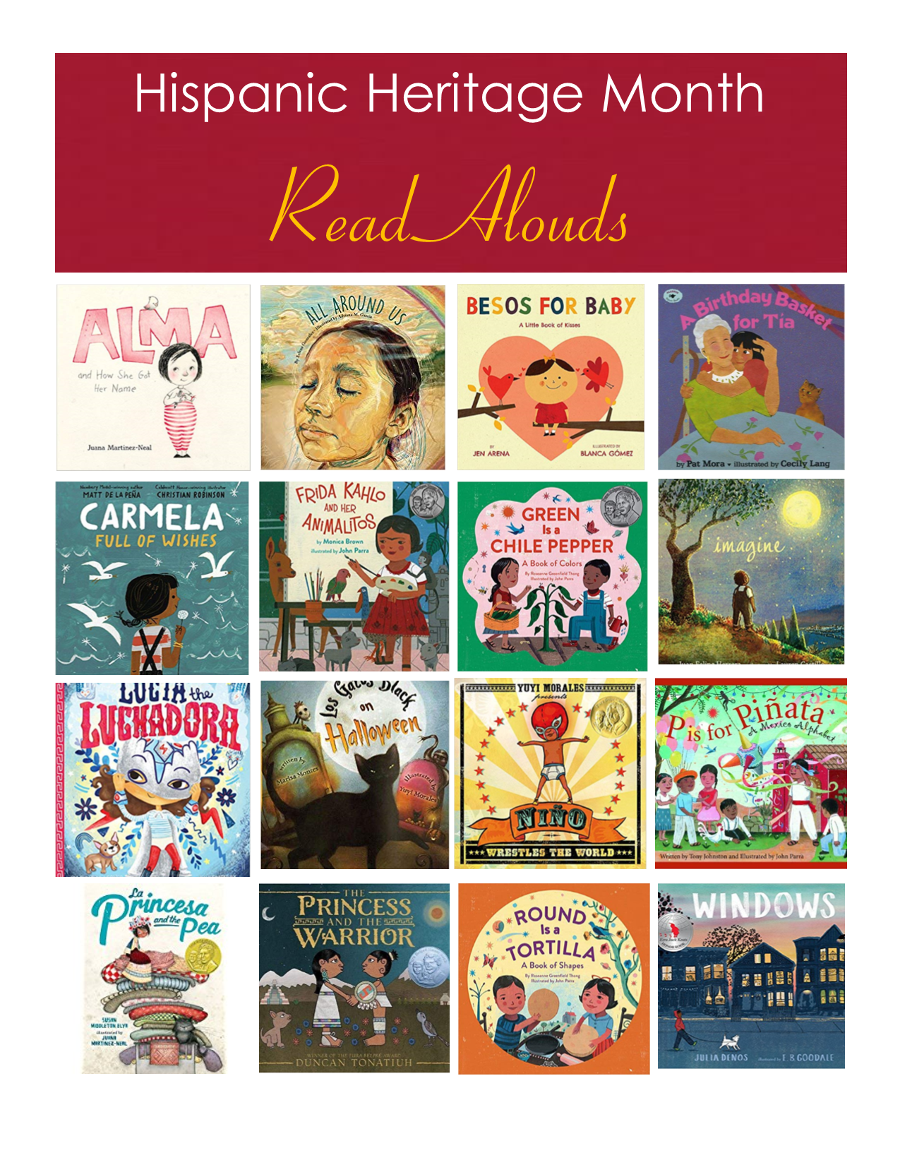 hispanic heritage month read alouds.pub